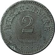 2 Pfennig (Werth-Marke; Iron; 16.2 mm) – avers