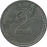 2 Pfennig (Werth-Marke; Iron; 16.2 mm) – revers