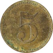 5 Pfennig (Wert-Marke) – revers