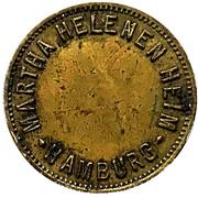 5 Pfennig - Martha Helenen Heim (Hamburg) – avers