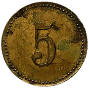 5 Pfennig - Martha Helenen Heim (Hamburg) – revers