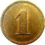 1 pfennig (Werth-Marke) – avers
