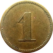 1 pfennig (Werth-Marke) – revers