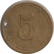 5 Pfennig (Wert-Marke; Countermarked