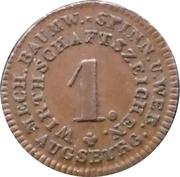 1 pfennig (Augsburg - Mech. Baumwoll=Spinn.U.Web) – avers