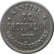 1 Pfennig - Kantine C.G. Grossmann (Grossröhrsdorf) – avers