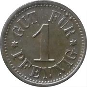 1 Pfennig - Kantine C.G. Grossmann (Grossröhrsdorf) – revers