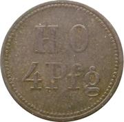 4 pfennig - Gewerkschaft Deutscher Kaiser (Hamborn) – revers