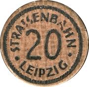 20 pfennig - Leipzig (tram) – avers