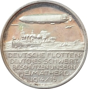 Homecountry protection by sea and air - Count Ferdinand von Zeppelin – revers