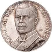 Admiral Reinhard Scheer – avers