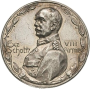 Médaille - Scholtz and the VIII. Army – avers