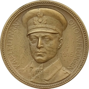 Médaille - WWI Kapitänleutnant Otto Eduard Weddigen – avers