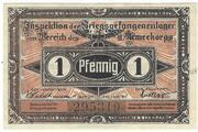 1 Pfennig (Beeskow; PoW Camp) – avers