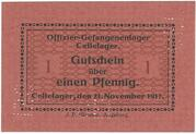 1 Pfennig (Cellelager; PoW Camp) – avers