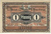 1 Pfennig (Frankfurt A. Order; PoW Camp) – avers