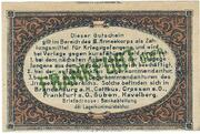 1 Pfennig (Frankfurt A. Order; PoW Camp) – revers