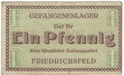 1 Pfennig (Friedrichsfeld; PoW Camp) – revers