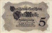 5 Mark (Darlehenskassenschein) – avers