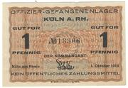 1 Pfennig (Köln; Officer PoW Camp) – avers