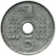 5 Reichspfennig (military coinage - Pattern) – revers