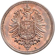 5 Pfennig - Wilhelm I (type 1 - large shield - Pattern) – avers