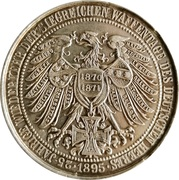 Medal - Wilhelm II, Wilhelm I and Friedrich (25th anniversary of Return of the Days of arms) – revers
