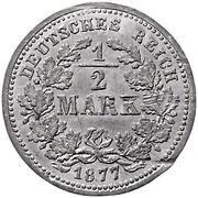1/2 Mark - Wilhelm I (Pattern) – revers