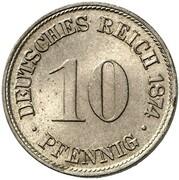 10 Pfennig - Wilhelm I (Pattern) – revers