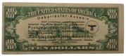 10 Dollars – Nazi Propaganda Flyer (Defector ID) – revers