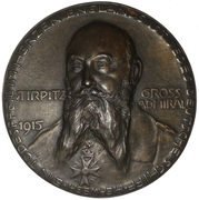 Admiral von Tirpitz - Unrestricted Submarine Warfare Medallion – avers