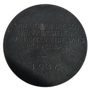 Kaiser Wilhelm II ''Zu den Waffen'' 1914 war medal – revers