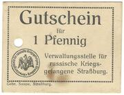 1 Pfennig (Strassburg; Russian Officers PoW Camp) – avers