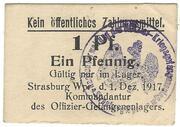 1 Pfennig (Strasburg; Officers PoW Camp) – avers