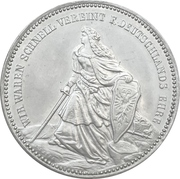 Medal - Victory over France and unification of Germany – avers