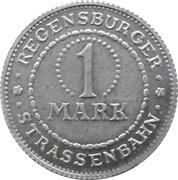 1 Mark - Regensburg (tram) – revers