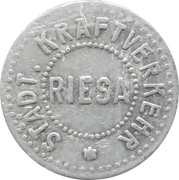 Zahl Marke - Riesa (Städt Kraftverkehr) – avers