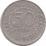 50 Pfennig - Regensburg (tram) – revers