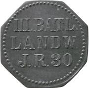 5 Pfennig - Saarlouis (III. Batl. Landw. J.R. 30) – avers