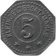 5 Pfennig - Saarlouis (III. Batl. Landw. J.R. 30) – revers