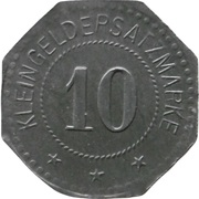 10 Pfennig - Saarlouis (III. Batl. Landw. J.R. 30) – revers