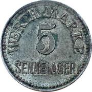 5 Werth Marke - Sennelager – avers
