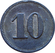 10 Werth-Marke - Sennelager – revers