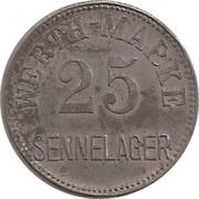 25 Pfennig Werth-Marke - Sennelager – avers