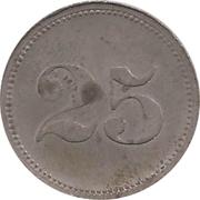 25 Pfennig Werth-Marke - Sennelager – revers
