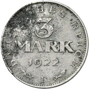 3 Mark (Pattern) – revers