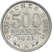 500 Mark (Pattern) – revers