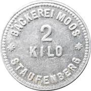 2 Kilo - Staufenberg (Bäckerei Moos) – avers