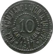 10 pfennig - Warthelager (KGL. Kommandantur D. Tr. Ü. PL.) – avers