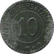 10 pfennig - Warthelager (KGL. Kommandantur D. Tr. Ü. PL.) – revers